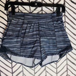 Lululemon hotty hot shorts blue black size 4